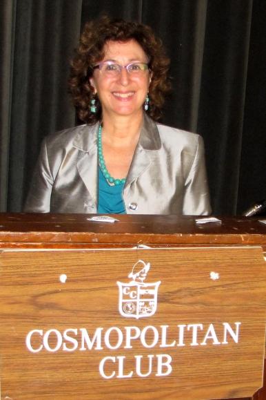 Alison Brysk at Cosmopolitan Club podium