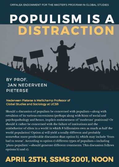 Populism is a Distraction flyer