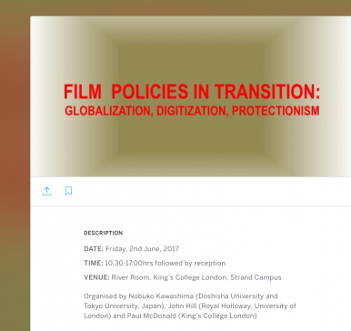 Film Policies in Transition conference web page image