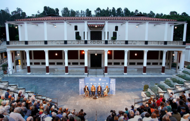 """Zócalo Public Square/Getty Villa """"Open Art"""" panel discussion photo"""