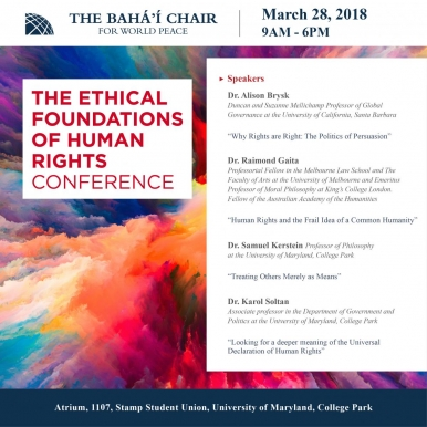 Ethical Foundations of Human Rights conference poster