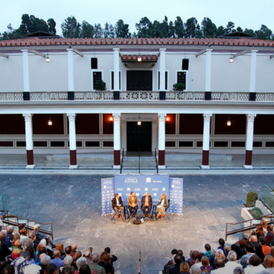 "Zócalo Public Square/Getty Villa ""Open Art"" panel discussion photo"
